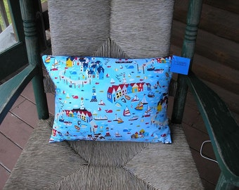 Maine Made  Coastal Village Pillow