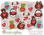 Clip Art Bundle - .PNG - Commercial Use - Instant Download - High Resolution - My Funny Valentine Stickers