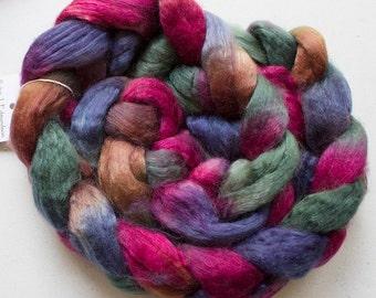 Superwash wool & Tencel Roving, 60/40, 4 oz. - Renaissance