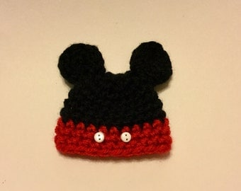 Holiday Elf Buddy Mouse Ears Hat - Crochet Holiday Dress Up Hat for Decorative Elf