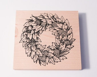 Bayleaf Wreath stamp by Serendipity Stamps