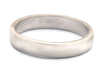 Recycled 14k Gold Wedding Band, Man Wedding Band, Woman Wedding Band. Made To Order In White Gold, Rose Gold And Yellow Gold.