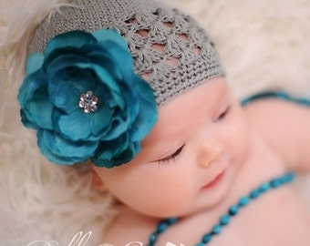 Baby Beanie - Infant Beanie - Baby Hat - Infant Hat - Photography Prop - Girls Knit Hat - Photo Prop