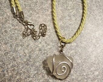Michigan Lake Huron Sea Glass Necklace