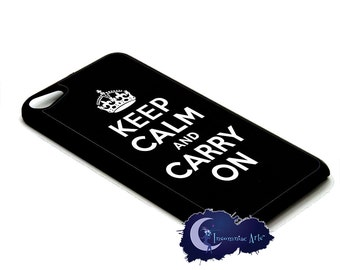 Keep Calm and Carry On, Black - Case for iPod Touch