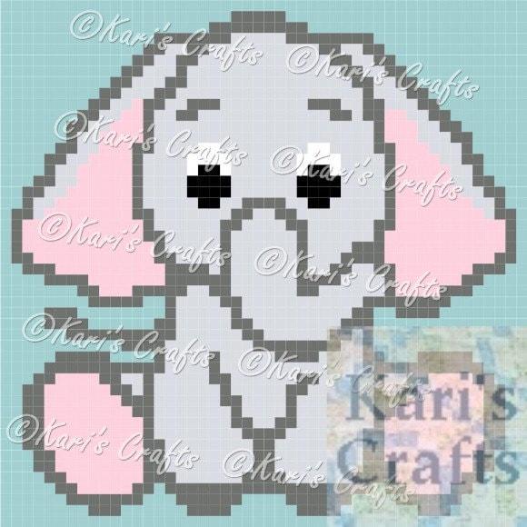 Baby Elephant C2c Corner To Corner Afghan Blanket Pdf Pattern