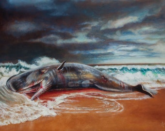 Your heart's desire is to be told some mystery - sperm whale painting