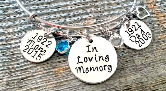 Memorial Bracelet In Loving Memory of by SimpleOfferings ...