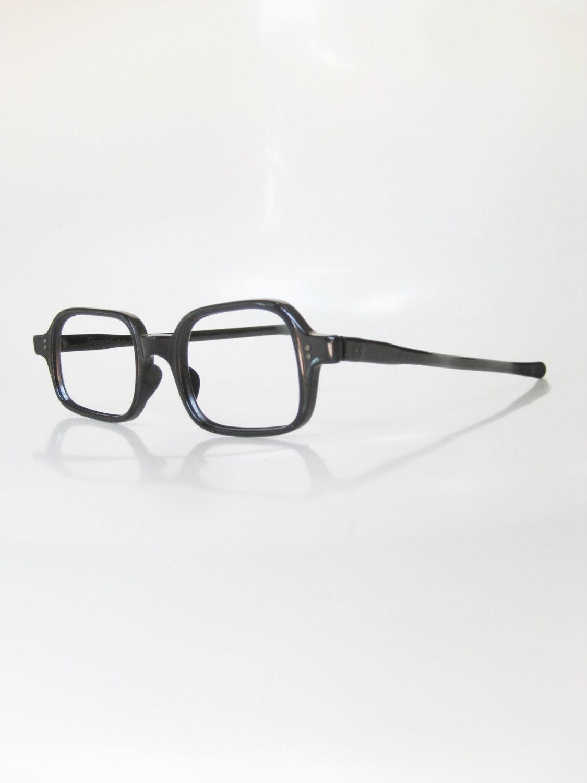 d383138b1de Vintage 1960s Boxy Eyeglasses Black Womens Ladies Mod Mid Century Mad Men  Glasses Optical Frames Midnight