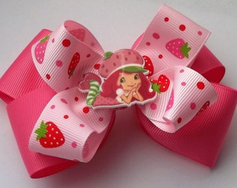 Strawberry Girl Boutique Hair Bow for toddler,girl,or baby