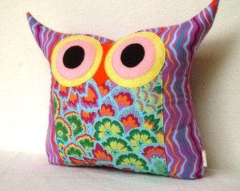 SALE 15%Polyfil Stuffed Soul Blossoms/ purple/Owl Pillow for baby and home decoration/Ready to ship