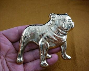English Bulldog dog puppy lover I love dogs Victorian BRASS pin pendant brooch B-DOG-1
