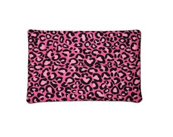 Handmade Fabric Tissue Holder - Pink Leopard