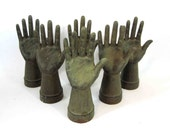 RESERVED for Tami Dickason /  Six Cast Iron Hand Displays for Rings, Necklaces, Bracelets, Etc.