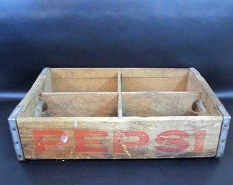 Vintage Wooden Pepsi Cola Crate