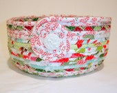 Hard Candy Christmas Coiled Fabric Bowl,