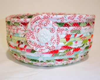 Hard Candy Christmas Coiled Fabric Bowl