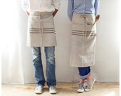Kitchen Apron - Hierloom- Linen Apron - Free shipping in the USA.