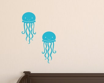 Nursery Wall Decal, Jellyfish Vinyl Wall Decals, Sea Ocean Wall Decals, Jellyfish Wall Decals, Sea Ocean Friends Wall Decals