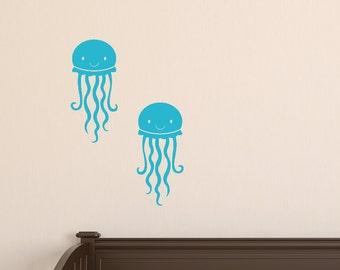Nursery Wall Decal, Jellyfish Vinyl Wall Decals, Sea Ocean Wall Decals, Jellyfish Wall Decals, Sea Ocean Friends Wall Decals
