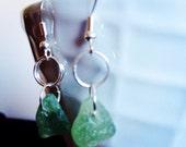 Light Green Irish Seaglass Earrings