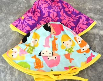 Merry Mermaids Sunhat, baby sunhat, girls sun hat, toddler summer hat, girls summer hat, baby sun hat, summer hat, baby summer hat