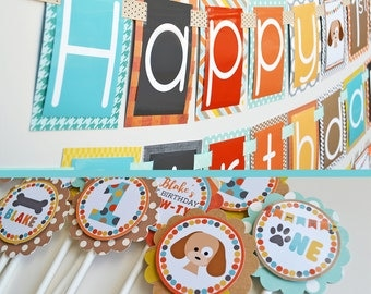 Puppy Birthday Party Decorations Package Fully Assembled