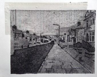 Suburbia (Original Collagraph Hand Pulled Artist Print)