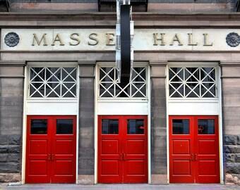 "Toronto architecture vintage urban building red doors street photo - ""Massey Hall"" 8 x 10"