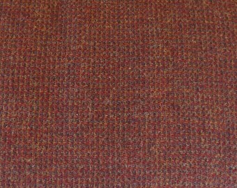 Red Gold Green Texture Felted Wool Fabric 100% Wool in  Perfect For Rug Hooking, Applique, and Crafts Projects