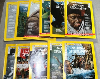 National Geographic 1971 11 Issues Jan-July Sept-Dec ~ Nat Geo ~ Vintage Magazines ~ Vintage Travel Magazines