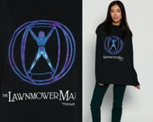 Movie Shirt The LAWNMOWER MAN 90s Long Sleeve Tshirt Sci Fi Grunge Film T Shirt Science Fiction Vintage Hipster Graphic Print Extra Large Xl