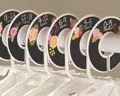 6 baby closet dividers (No.191) fake chalkboard flowers girl clothes separator newborn nursery school organizer Closet Doodles®
