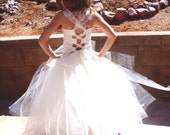 Flower Girl Dress, Weddings, Tutu Dress, Ivory Tutu, Cream Lace Chiffon Top