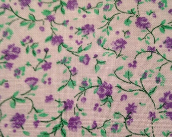 Fabric in floral pattern