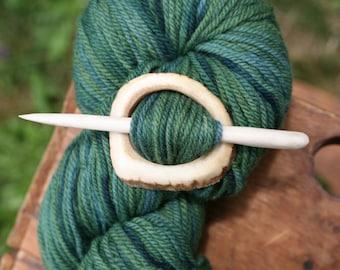 Elk Antler Shawl Pin - Handmade Elk Antler Shawl Pin - Eco Knitting Supplies