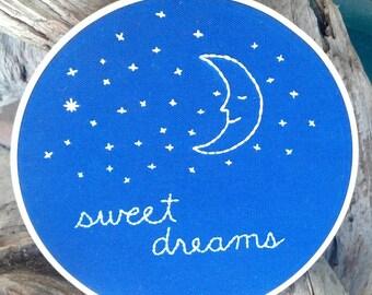 Sweet Dreams Embroidery Art