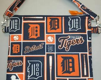 Detroit Tigers MLB purse messenger bag with adjustable strap