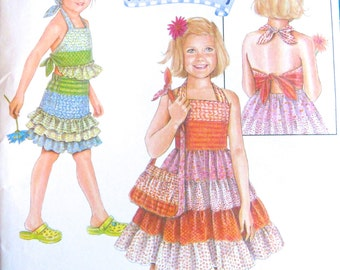Simplicity Daisy Kingdom Pattern - Dress, Top, Skirt and Purse, Girl's sizes 3-8