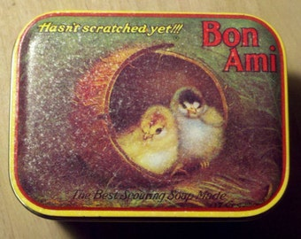 1980s Bon Ami Chicks Tin -   Like New!