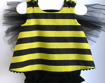 Baby and Toddler Bumble Bee Costume - Choose 2 PC or 3PC Set