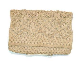 Vintage Macrame Clutch Crochet Bags and Purses Small Crochet Bags Vintage Crochet Purse Crochet Clutch Bag Macrame Bag Retro Handbags