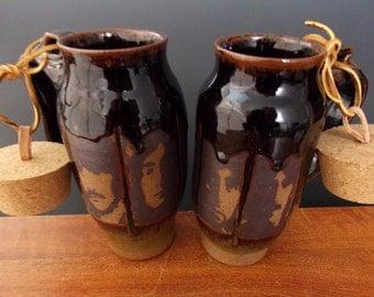 The Beatles Stoneware Travel Mug With Cork