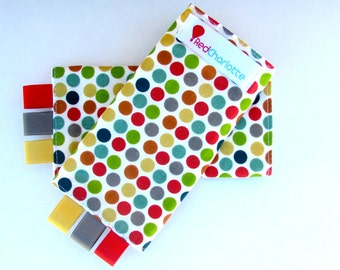 Organic Sucking Pads -Just For Fun Polka Dots fits Tula, Ergo, Mei Tai, Beco, Boba, BabyHawk and more