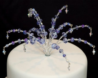 Wedding Cake Topper - for DIY wedding Cake - Decorations / Choice of colours / crystal cake topper
