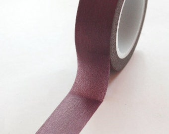 Washi Tape - 15mm - Metallic Eggplant Solid Color - Deco Paper Tape No. 18