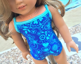 18 Inch Doll Clothes Lea's Swim Suit Ready to Ship