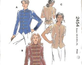 Kwik Sew 2454 Sewing Pattern, Ladies Jackets, Military Style, XS, S, M, L, XL