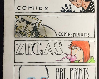COPRA & ZEGAS Illustration, Original Art
