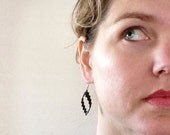 Bicycle Tube Earrings - Pixel Teardrop